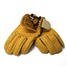 MOTORCYCLE GLOVES SWANY GRIP MUSTARD by ellaspede