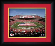 Your Name on a sign in Arrowhead Stadium, Your Day at the Stadium.  Great gift for Chiefs Fans. Customize with your name on cards held by the fans and make it Your Day at the stadium.