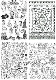 Roxy Marj Coloring Posters - Set of 4. $36.00, via Etsy.