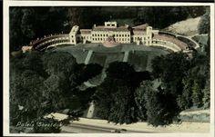 Oude inngekleurde zwart-wit fotobriefkaart  Paleis Soestdijk
