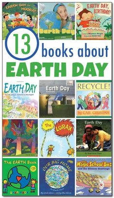 13 books about Earth Day for kids. This review includes both fiction and non-fiction children's books about Earth Day for kids ages 2-9    Gift of Curiosity #earthday