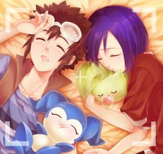 Digimon: Ken and Davis (do not ship but cute picture)