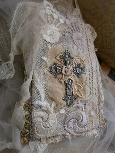 Fabric and lace Angel book | Flickr - Photo Sharing!