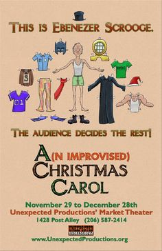 """Have an unexpected experience at the theatre this holiday season with """"A(n Improvised) Christmas Carol"""" in Post Alley in downtown Seattle."""