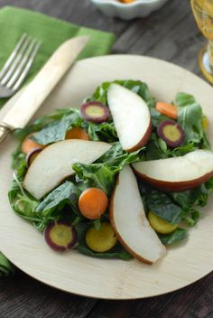 Spicy Mustard Mint Mizuna salad with Tangerine-Balsamic Dressing | Boulder Locavore
