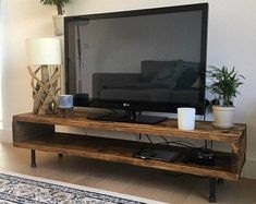 Tv Stand Decor, Diy Tv Stand, Build A Tv Stand, Tv On Stand, Glass Tv Stand, Reclaimed Wood Tv Stand, Reclaimed Wood Furniture, Salvaged Wood, Industrial Furniture