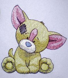 Собачка Чихуахуа - набор дизайнов машинной вышивки для детей из серии Старая игрушка    Дизайн выполнен Оксаной Вушкан (Oksana Vushkan),