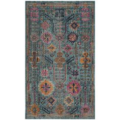 "Boho Distressed Teal 5'1""x7'6"" Rug"