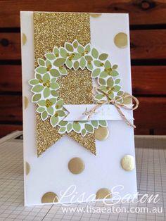 Pretty Christmas card❣ Lisa Eaton: INKspired Artists Blog Hop
