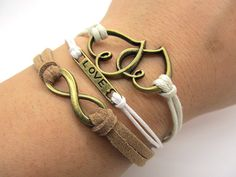 New style, very nice leather bracelet.Thank you for sharing.  Welcome to my shop, you can see more beautiful handmade jewelry.  Leather bracelets and necklaces.  https://www.etsy.com/listing/109814168/true-love-bracelet-fashion-brown-white