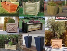 Jardinières en bois,grands bacs en bois, collstrop, tootan,woodexpo 78