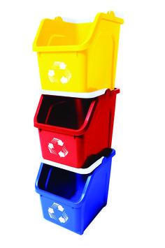 Contenedor de Reciclaje para espacios reducidos, 20 litros cada balde, disponible en 5 colores. Chile.