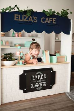 Cafe shop indoor cubby house - play shop - Cafe shop indoor cubby house - play shop - The decoration of the house is much l. Kids Play Kitchen, Kids Play Area, Children's Play Shop, Kids Play Rooms, Kids Play Store, Kids Toy Shop, Children Playroom, Childrens Shop, Kids Fun