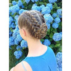 """Two Five Strands into a Flower Bun  We took this near flowers to participate in @madisonshairart 1 Year Celebration and we chose this summery hairstyle to participate in the #SummerBreakHair which was organized by @hairstylesbymika ! Congrats on 1 year Maddie! #1yearformha And thanks for the fun twin Mika!"" Photo taken by @hairbysel on Instagram, pinned via the InstaPin iOS App! http://www.instapinapp.com (06/19/2015)"