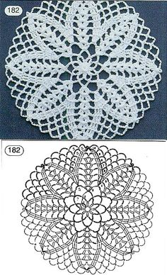 Patterns and motifs: Crocheted motif no.A rhombus crochet and other ideas for inspiration. Crochet Circles, Crochet Motifs, Crochet Mandala, Crochet Diagram, Crochet Chart, Crochet Squares, Filet Crochet, Crochet Doilies, Crochet Stitches
