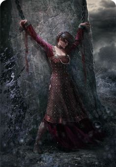 Norse Lady Chained to a Monolith