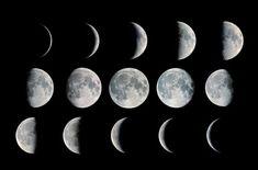 unterschiedliche Mondphasen