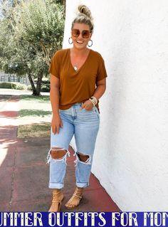Posts From Corrine Monique Liketoknow It Summeroutfitsformoms Beitr Ge Von Modest Summer Outfits, Summer Outfits Women Over 40, Curvy Girl Outfits, Spring Outfits, Plus Size Fashion For Women Summer, Winter Outfits, Summer Clothes, Curvy Fall Fashion, Beach Outfits Women Plus Size