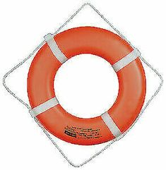 Jim-Buoy 30 in. Closed Cell Foam Life Ring with Webbing Straps in Orange Life Preserver, Personal Safety, Plastic Design, Pool Supplies, Coding, Orange, Ebay, Things To Sell, Products