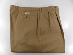 Polo Ralph Lauren Mens Hammond Chino Khaki Pants Tan 52W 30L Pleated Cuffed  #PoloRalphLauren #KhakisChinos