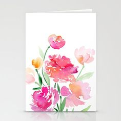 Inspiring Stamped Cards with Water-coloring!