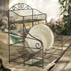 I'm in LOVE! Amazon.com: FRENCH WIRE STANDING DISH DRAINING RACK: Home & Kitchen