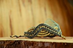 "Makramee-Armband ""Rajula"" mit Messingperlen von Lapiszulia  Macrame, Bracelet, Tribal, Brass Beads, NEW, Indian Beads"