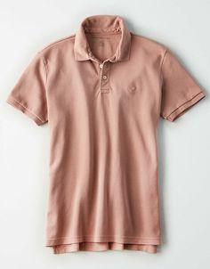 07cd1be4da American Eagle Mens Olive Ultra Soft Jersey Standard Fit Polo Shirt Sz L  NWT #AmericanEagle