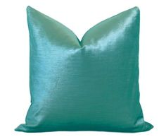 By Willa Skye Home: The Turquoise Glisten Pillow cover is the supreme of elegance and comfort, soft as silk and so plush you will want to sleep on it! Color is shimmery shade of Bright Deep Turquoise. Glisten Velvet on both sides Zipper enclosure and overlocked stitched & serged sewn