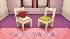 Dolly chair & Heart pillow at Femme-Jean via Sims 4 Updates