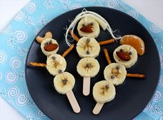 Fun Kid Snacks with Bananas: | Tropical Snowman | http://www.butterwithasideofbread.com/