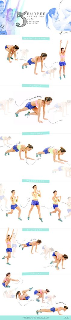 5 Burpee Variations | Workout Routine For Women | Fitness |