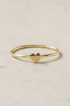 Thin gold heart ring from Anthropologie