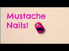 Easy Mustache Nails