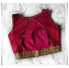 Sleeveless blouse designs Vegan Coleslaw vegan coleslaw for sale Kids Blouse Designs, Simple Blouse Designs, Saree Blouse Neck Designs, Stylish Blouse Design, Choli Designs, Indian Blouse Designs, Designer Blouse Patterns, Designer Saree Blouses, Textiles