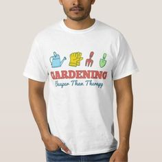 (Gardening Cheaper Than Therapy T-shirt) #FunnySaying #Gardener #Gardening #GardeningCheaperThanTherapy #Quotes is available on Funny T-shirts Clothing Store   http://ift.tt/2d8fWRn