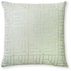 Gold Foil Grid Cushion | Oliver Bonas ($39) ❤ liked on Polyvore featuring home, home decor, throw pillows, olive throw pillows and olive green throw pillows