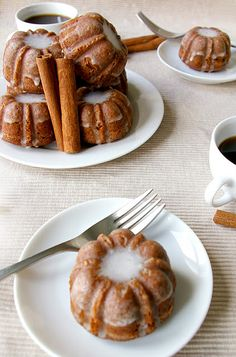 Gingerbread Bundts with Cinnamon Glaze