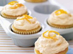 CREAMSICLE CUPCAKE WITH ORANGE BUTTERCREAM FROSTING Recipe 2 | Just A Pinch Recipes-might be great with canned organic slices of mandarin oranges added!