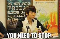 Leo says just stop!