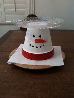 flower pot Christmas decoration. Great way to serve a cake or holiday goodies.