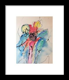 Abstract Painting 1 Framed Print by Britta Zehm. All framed prints are professionally printed, framed, assembled, and shipped within 3 - 4 business days and delivered ready-to-hang on your wall. Choose from multiple print sizes and hundreds of frame and mat options.
