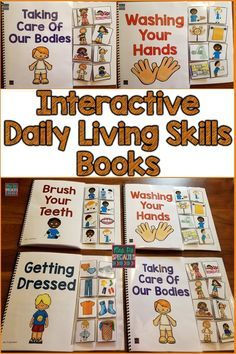 These ADL or daily living skills books are great for teaching crucial life skills while creating hands on learning opportunities. These books will capture the attention of your students and increase their participation rate. This set is ideal for special education programs especially those designed for students with autism and multiple disabilities.