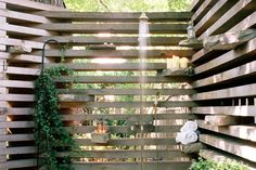 rustic outdoor shower : earth inc.
