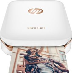 HP - Sprocket Photo Printer - White - Larger Front