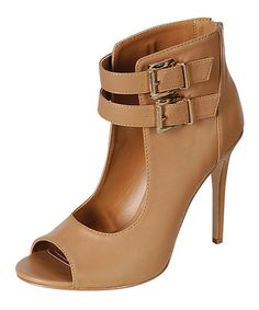 Look at this Natural Buckle Rapture Pump on #zulily today!