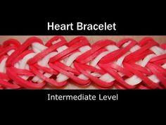 *NEW* Lesson 12: Rainbow Loom® Heart Bracelet Rainbow Loom video