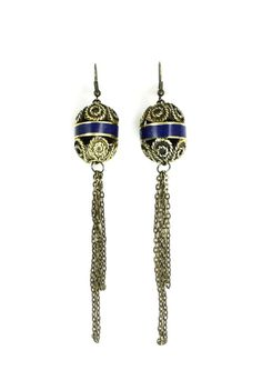 Handcrafted Vintage Moroccan Inlay Lapis Earrings by IsabellaRaeJewelry, $28.00