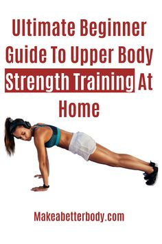 This beginners at home workout is great for men and women who want full body exercise routines that are easy to do with a focus on fitness for beginners. Beginner Workout At Home, Easy At Home Workouts, Full Body Workout At Home, Workout For Beginners, Upper Body Strength Workout, Full Body Strength Workout, Metabolic Workouts, Strength Training For Beginners, Daily Exercise Routines