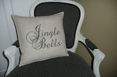 Jingle Bells Pillow Cover by chateauthreefork on Etsy, $19.50